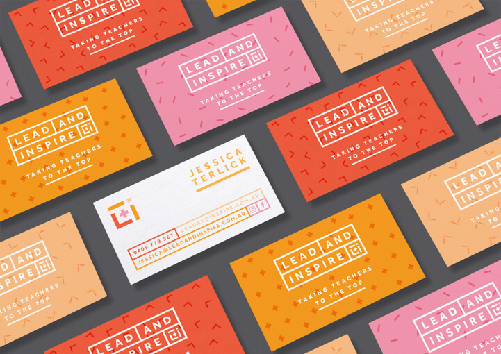 Lead and inspire business card design
