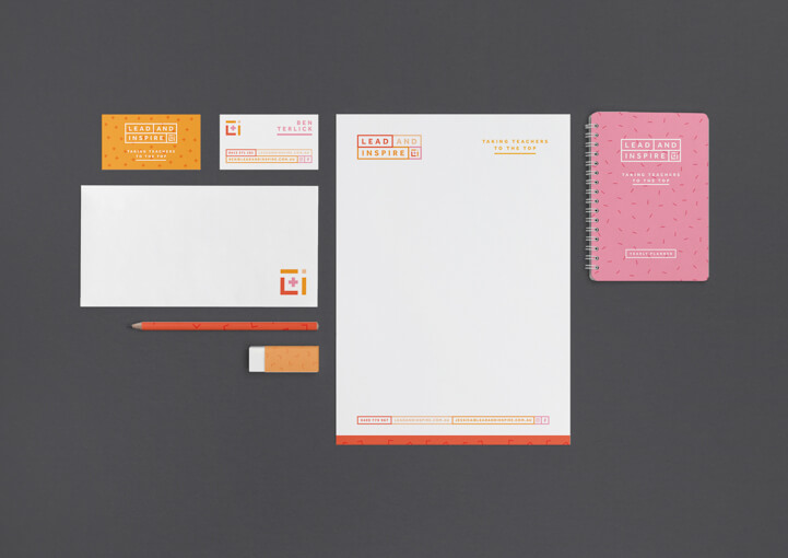 Lead and inspire stationery printed