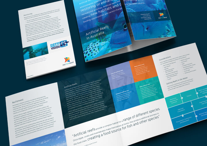 Recfishwest artificial reef brochure close up
