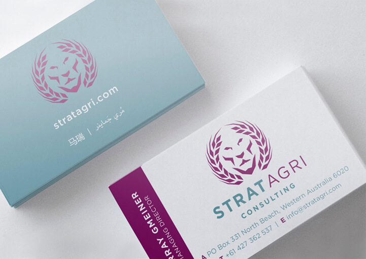 Strat Agri Consulting business cards