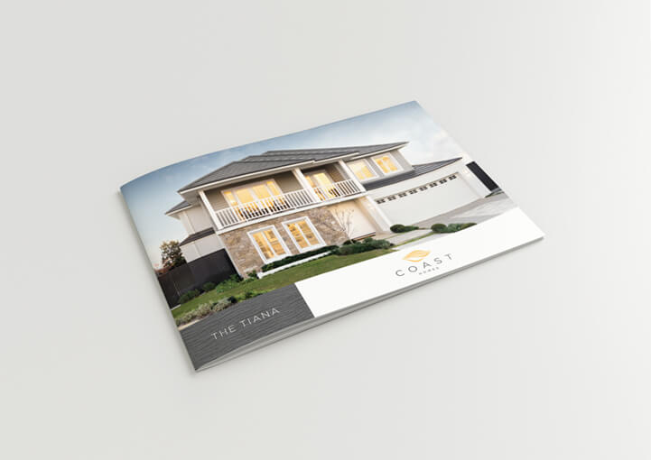 Coast homes brochure design front cover