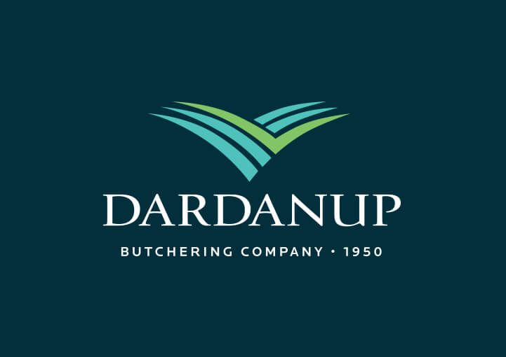 Dardanup logo on blue background