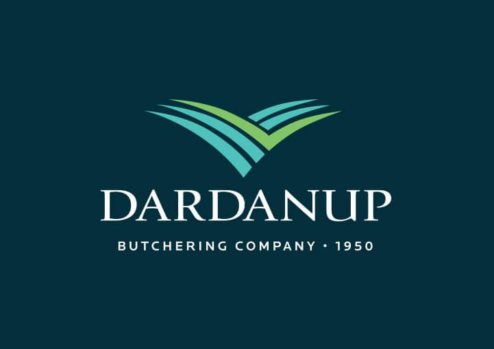 Dardanup logo on blue background