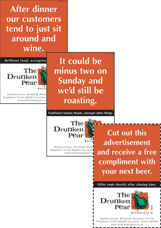 drunken pear press ads