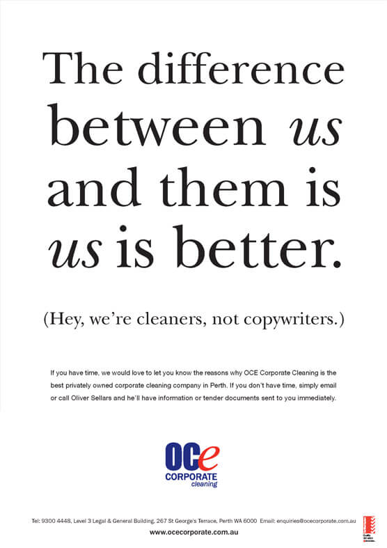 oce cleaning press ad