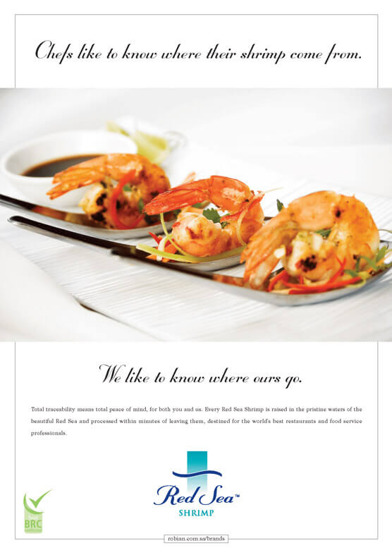 red sea shrimp press ad